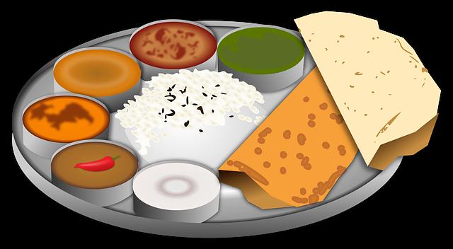 talíř s občerstvením