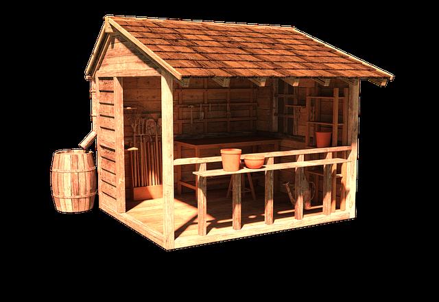Dřevěný zahradní domek